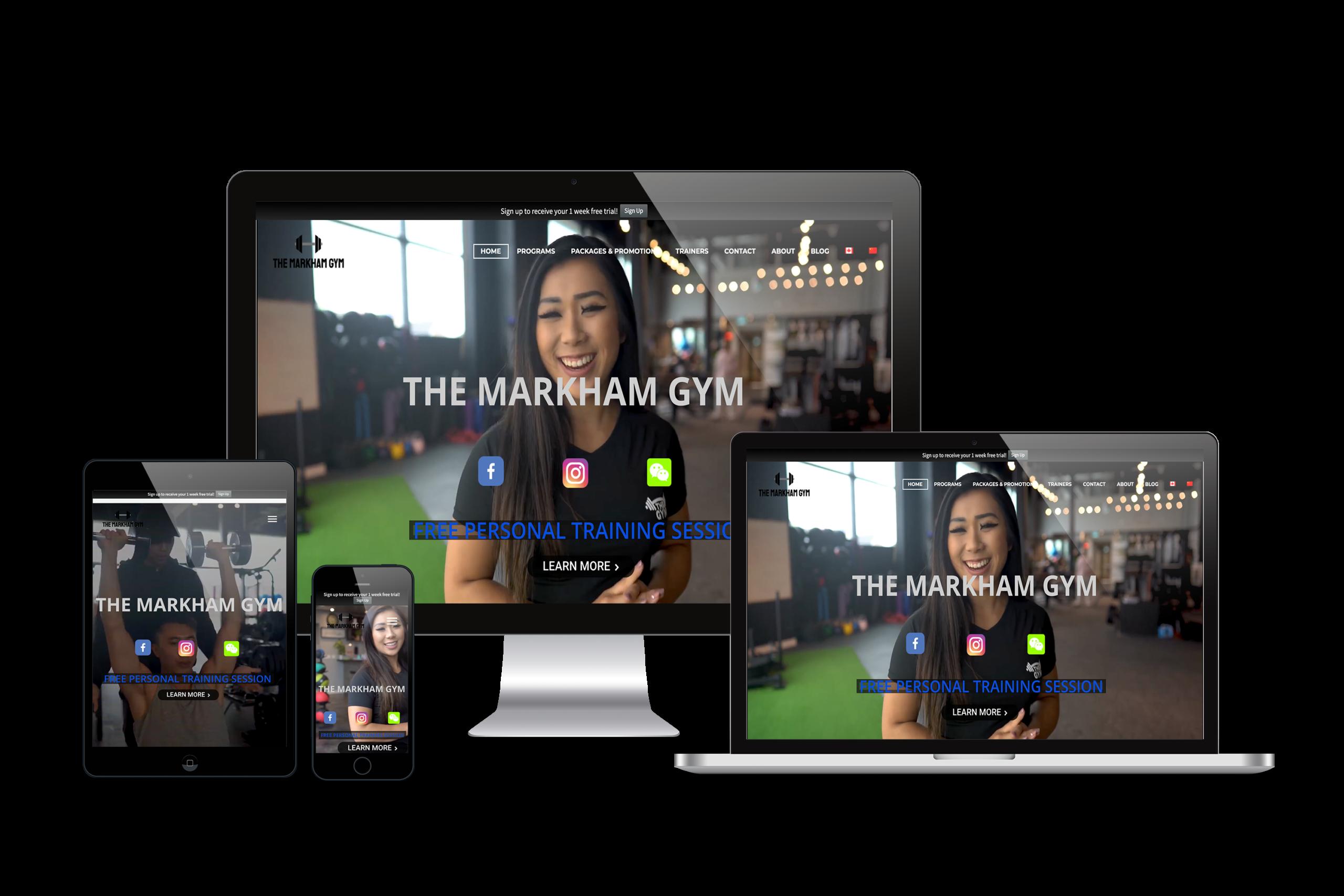 The-Markham-Gym-Web-Design